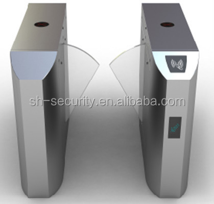Automatic flap barrier sliding gate system with fingerprint identification