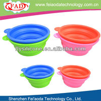 2013 Best Selling Large Cheap Silicone Folding Dog Bowls Can Printing Logo
