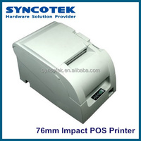 76mm Impact Printing Method POS machine For Supermarket, POS Receipt Printer