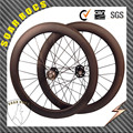 full carbon T800 fiber 60mm tubular 700c track bicycle wheels easy track wheels