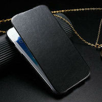 fashion business leather flip case cover for samsung galaxy note2