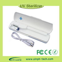 2015 Best Selling Travel Charger Case UV Toothbrush Sanitizer for teeth healthy