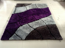 modern design polyester shaggy rug from chinese carpet manufacturer