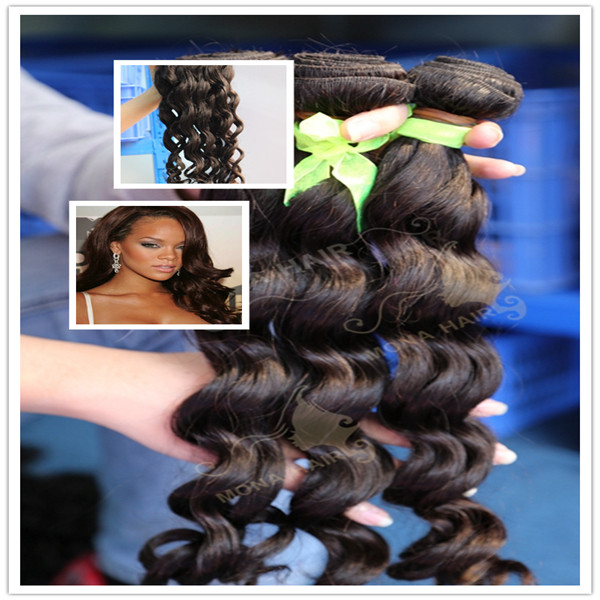 Dyeable & Colored Indian virgin loose wave hair extensions
