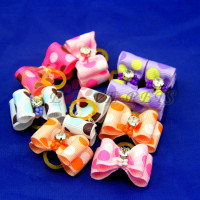 V1016 New Mix Designs Cat Dog Hair Bows Cute Mix Design Bright Color Pet Dog Hair Bows pet Grooming Bows Accessories Fast Shipp