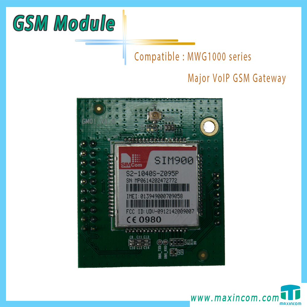 SIM900 GSM Module for parts of VoIP GSM Gateway
