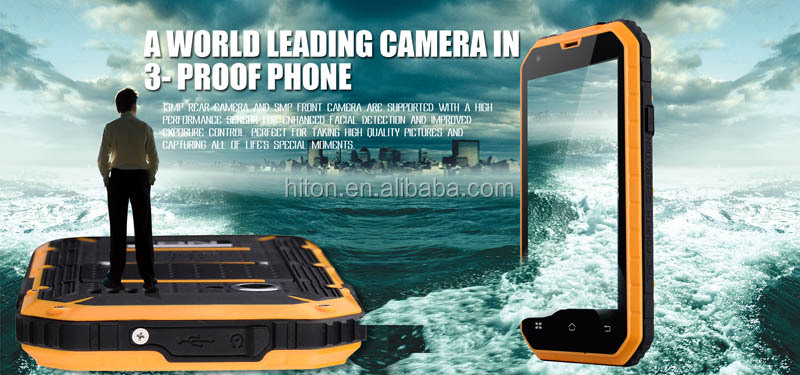 "Cheapest 4.5"" quad core Android 6.0 industry cell phone with wifi bluetooth rugged smart phone with IP68 ruggedness dustproof"