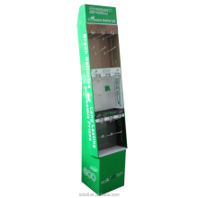 Customize recyclable paper 3 layers cardboard hook display stand