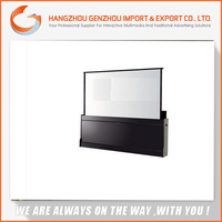 2015 100 inch 4:3 Manufacturer Electric Floor Rising Projector Screen