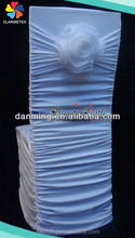 White Shirred Lycra Seat Cover for Chiavari Chairs