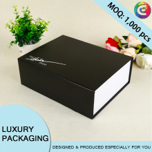 Packaging Custom black Cardboard christmas gift box Wholesale