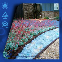 Low Price Clear Light Blue Glass Rocks For Garden Decoration