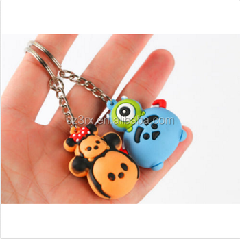 OEM wholesaler custom 3D keychain for sale/customized design cartoon character mix PVC Keychain gifts