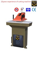 zhicheng ZCV- 25T high efficiency hydraulic swing beam press cutting machine for leather