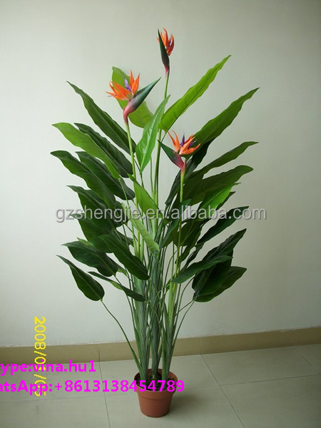 Artificial banana tree shape leaf for home decor design for Artificial banana leaves decoration