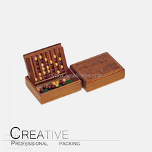 Mini travel wooden backgammon