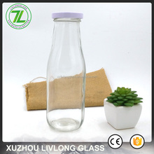 beverages industry use 400ml milk bottle 437ml 16oz clear glass bottle for juice