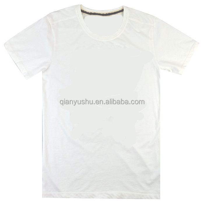 Short Sleeves Custom Made O-neck Blank Basic White Tshirts