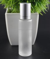 10ml ROLL ON Frosted GLASS BOTTLES ESSENTIAL OIL Steel Metal Roller ball fragrance PERFUME Wholesale