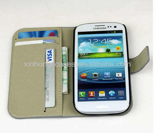 7 Colors Cute Leather Wallet Case Cover for Samsung Galaxy S3 SIII i9300