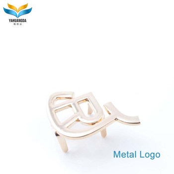 fashion new product custom logo metal plate for handbags
