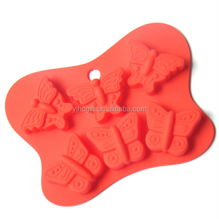 wholesale butterfly shape silicone cupcake mold
