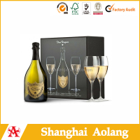 recycled decorate branded design classic cardboard paper wine boxes wholesale