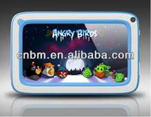 Most popular 7 inch kids tablet pc A706 with Allwinner A23 dual-core DDR III 1GB Android 4.2base