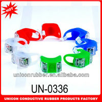 2014 Newest style super bright 2 led bicycle light led bicycle wheel light bicycle led silicone lights of various desin