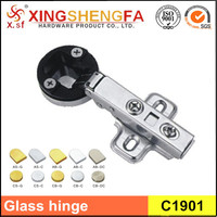 China No.1 two-hole base separate glass hydraulic concealed hinge