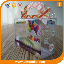 wholesale hight quality colorful pvc uv offset gift rectangular clear plastic packaging box