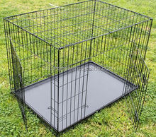 Collapsible Metal Dog Crate Pet Puppy Cage Two Entry Door