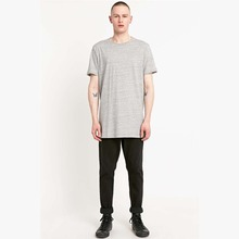 New style fashion blank long t-shirts in grey t shirts france
