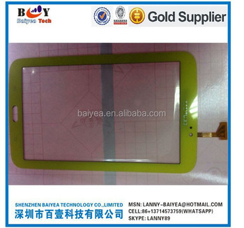 P3210 digitizer touch screen T210 Navy Blue and yellow for Samsung Galaxy Tab 3 digitizer