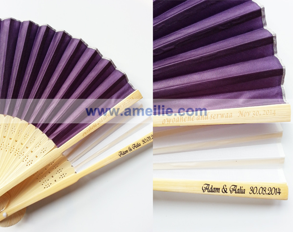 Custom Personalized Printed Bamboo Hand Fan