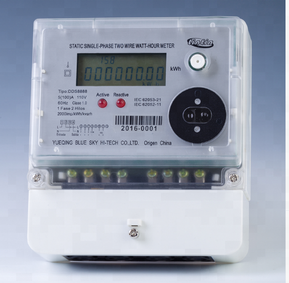 1Phase 2Wire RS485 smart meter/watthour meter