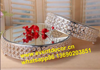 crystal wedding cake stand decorations/metal round stand for weding cake