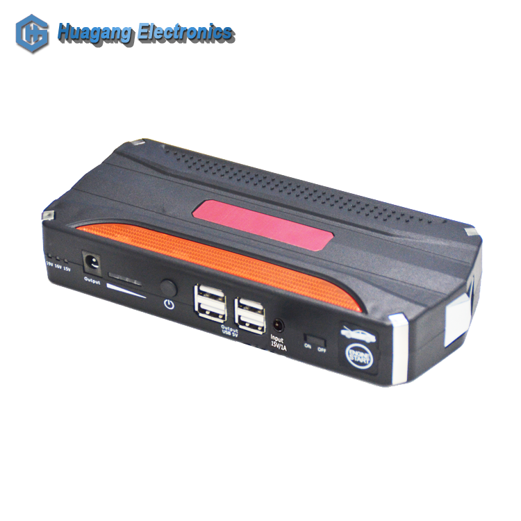10000mah multi-function portable lithium <strong>battery</strong> 4 USB port emergency power bank 12V vehicle car jump starter with LED light