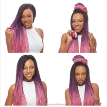 BRIGHT OMBRE two colored synthetic braiding hair/two tone jumbo braid synthetic hair/colored synthetic hair for box braids
