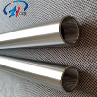 1mm wall thickness Asme sb338 gr2 seamless titanium tube for heat exchanger and condenser