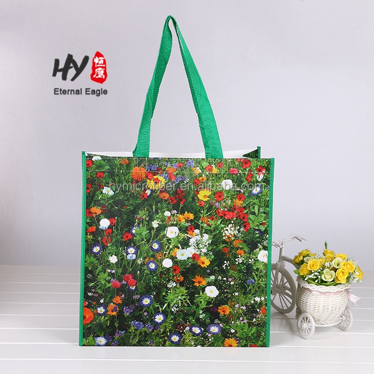 Bubble sewing design durable pp woven shopping bag