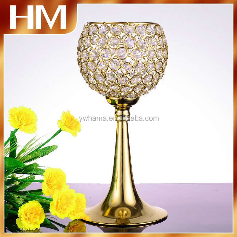 Elegance Handmade Crystal wedding centerpiece flower floral stand for table decoration