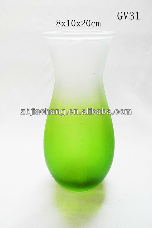 colored glass vase wedding centerpiece