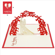 3d wedding laser cut invitation <strong>card</strong> greeting <strong>card</strong> display