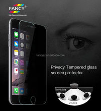 180 degree privacy function anti-spy glass screen protector film for mobile phone
