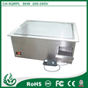 5KW industrial bbq grill, built in griddle and induction bbq grill