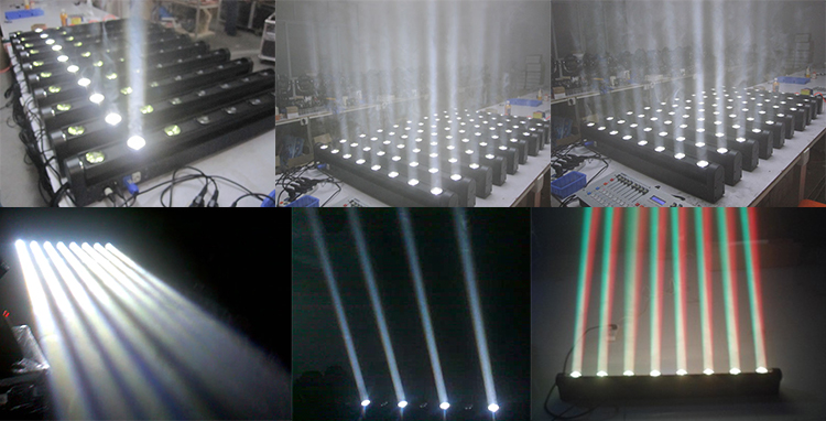 New design stage 10W8 white bar light led