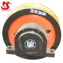 overhead travelling hot forged iron crane wheel