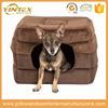 Top pet accessory supplier yintex best quality plush or washable fabric pet house comfortable luxury dog bed