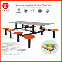 Table and chair combinations for cafeteria